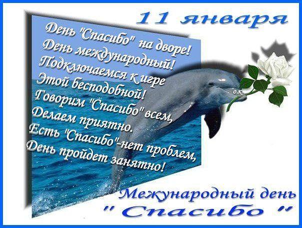 Поздравления с международным днем спасибо 11 января
